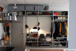 Details zu Garderobe Schuhregal Kleiderregal Kleiderschrank Schuhschrank  begehbar nach Maß
