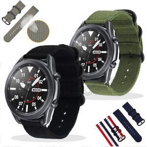 Nylon Wrist Strap Band Watchband For Samsung Galaxy Watch 3 45mm 41mm Active 2