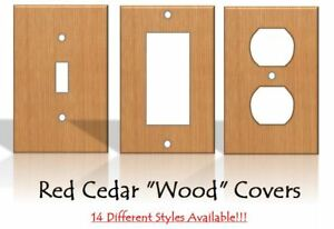 Red Cedar Wood Light Switch Covers Home Decor Outlet Made From