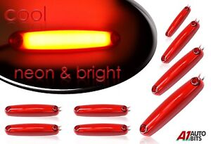 8x-LED-Red-Neon-Rear-Side-Marker-Lights-24V-Lamp-Truck-Chassis-Lorry-Trailer-Van