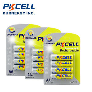 12pcs pkcell double a 2a rechargeable batteries aa 1 2v 2000mah nimh for rc car ebay. Black Bedroom Furniture Sets. Home Design Ideas