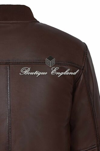 Men/'s 70/'S Street Inspired Brown Bomber Cool Soft Lamb Leather Jacket 275 Z