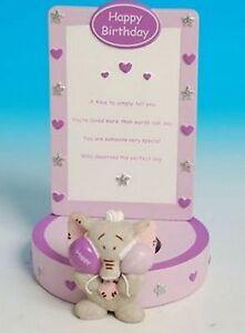 SéRieux Hattie L'éléphant Joyeux Anniversaire Bougie/tea Light Holder R47662-afficher Le Titre D'origine