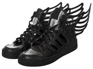 adidas Originals Men's Js Wings 2.0 Cutout Black Leather