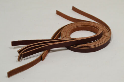 """E456 Leatherbarn Lace or String Leather Oil Tan 6 pack 3//8/"""" x 72/"""""""