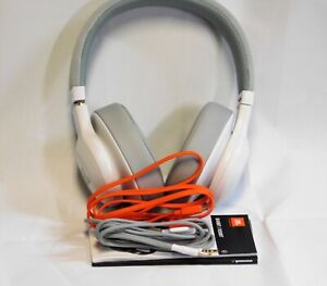 JBL E55BT Wireless Bluetooth Over-Ear Headphones - White, OUT OF BOX