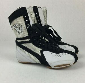 Dance-Shoes-Frontline-1084-Boots-Male-or-Female-Size-5-for-Hiphop-White-Black