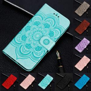 Pour-Samsung-Galaxy-S9-S10-E-Tournesol-Flip-Stand-Carte-Portefeuille-etui-en-Cuir