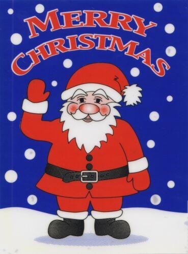 Noël s/'accrochent sur Vinyle Voiture Fenêtre Autocollant-Santa Claus agitant