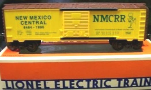 Lionel 52087 NMC 6464-1996 New Mexico Central TTOS Convention Boxcar