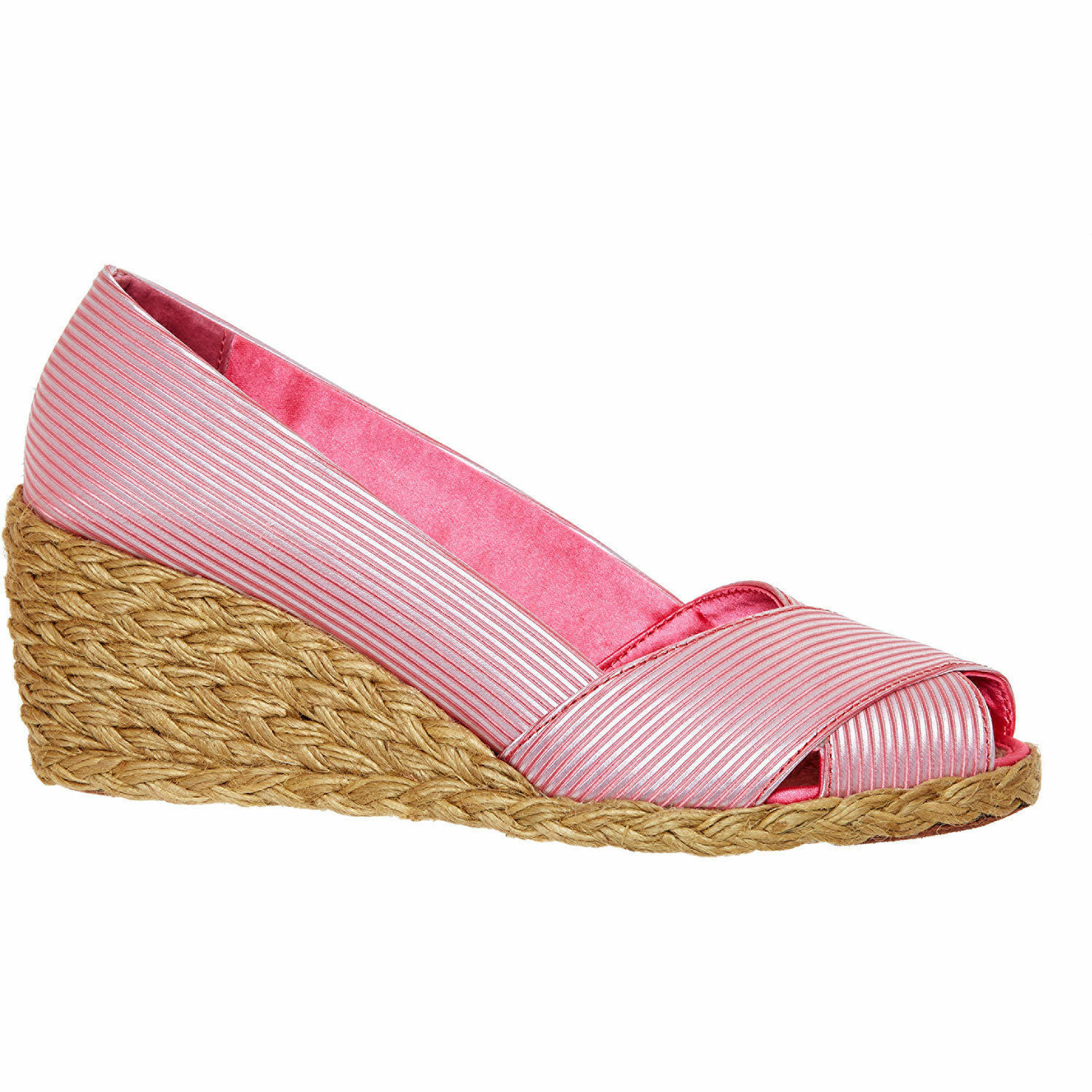 Ralph Lauren Pink Wedges Size 5 EU 38 Peep Toe shoes Brand New