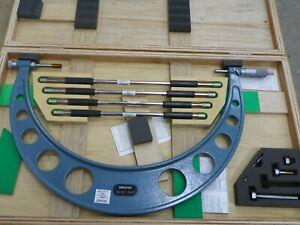 "Mitutoyo 12""-16"" Outside Micrometer w/ Interchangeable Anvils"