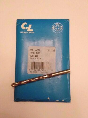 """Chicago-Latrobe #44379 Letter /""""I/"""" HSS General Purpose Jobber Length Drill Bit"""