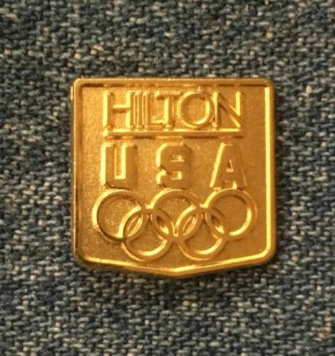 Details about  /Hilton Olympic Sponsor Lapel Pin~Gold Tone~1984 Los Angeles~by HoHo NYC