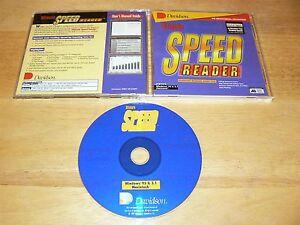 Davidson Ultimate Speed Reader PC/Mac CD-ROM for Windows 95