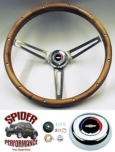 "1967 Camaro steering wheel stainless spokes SS Grant 15/"" MUSCLE CAR wheel"