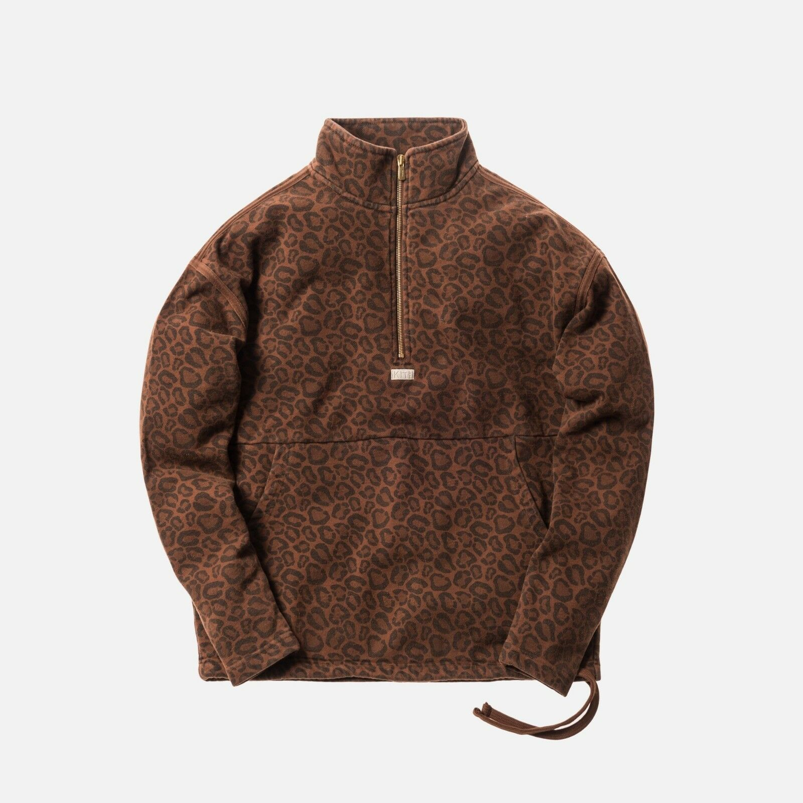 KITH CLASSIC L/S HALF ZIP PULLOVER CHEETAH KH2128-117 SIZE L LARGE