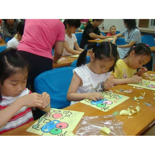 10X SAND ART PICTURES Kids Painting Coloured SAND Kids Painting/&Drawing Craft B$