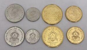HONDURAS-2014-SET-4-MONEDAS-5-10-20-50-CENTAVOS
