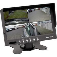 7 Zoll Rückfahrmonitor TFT Bildschirm Ampire 4 Kanal Quad Rückfahrkamera