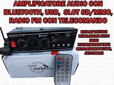 AMPLIFICATORE AUDIO HIFI USB 12V 220V SD MP3/4 FM RADIO CON FUNZIONE BLUETOOTH
