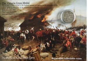 Victoria-cross-collectable-50p-coin-on-special-display