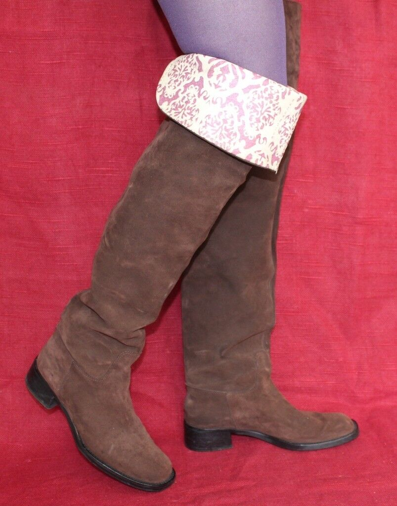 8b47f6a06 Dorothee schumacher cuero señora botas 39 Leather botas altas calcetas uk6