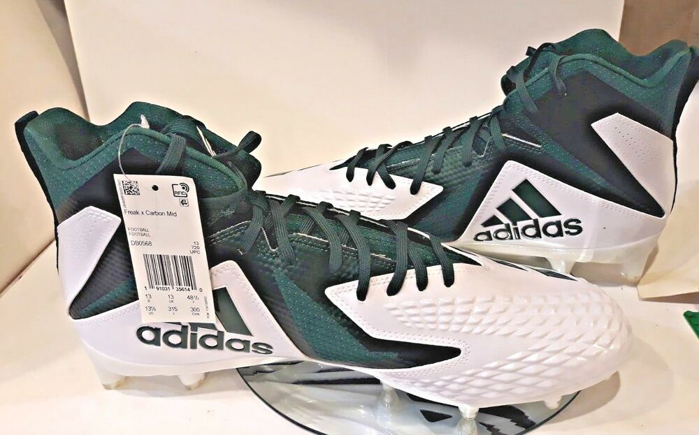 Adidas homme Green Freak X Fabric high Top Lace Up Sport Football Cleats 13.5 chaussures