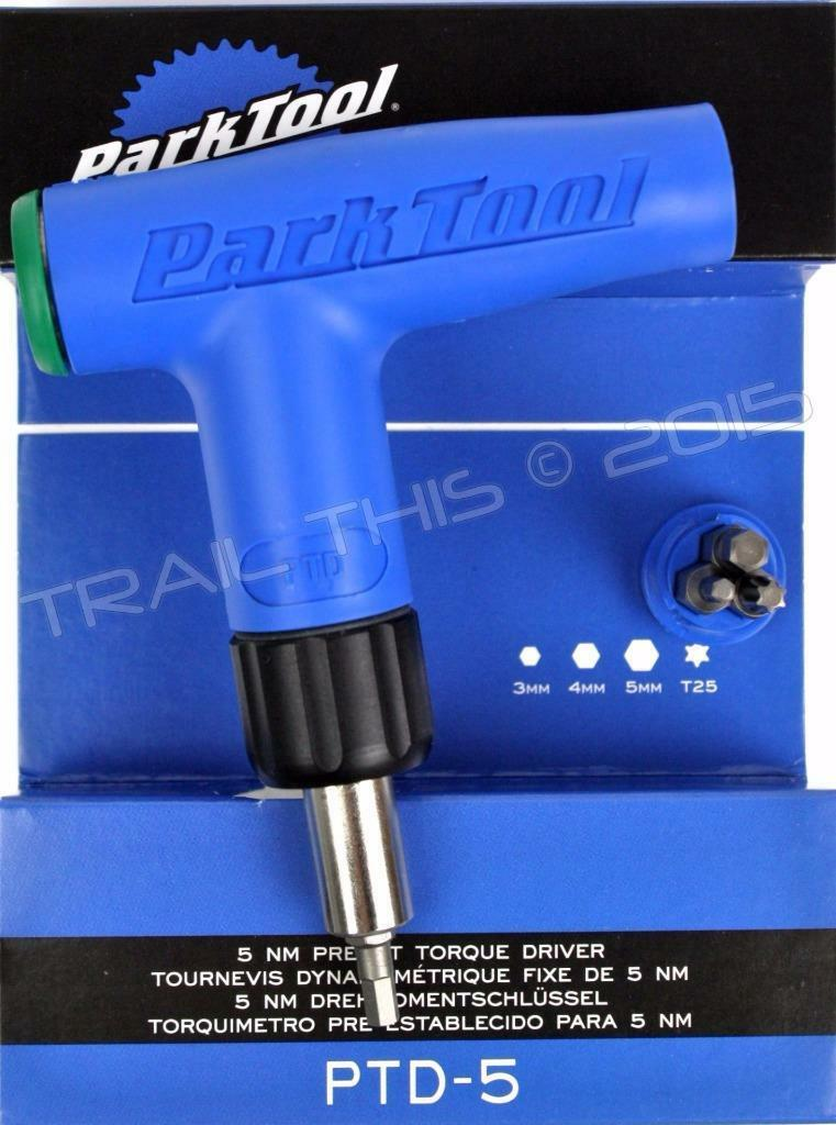 Park Tool PTD-5 Bicycle Torque  Driver Wrench L-Handle 5Nm Preset 4 Bits Hex T25  export outlet
