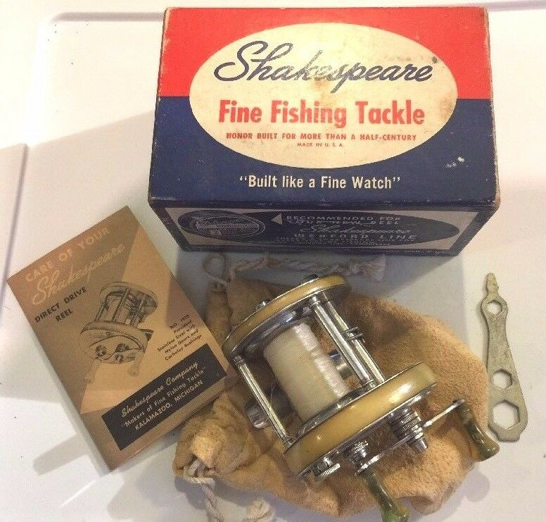 19471950 SHAKESPEARE  1970 President, MODEL GD, Casting Reel with Box Extras