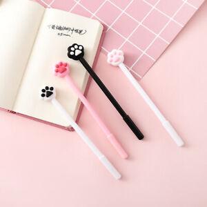 Cartoon-Animal-Cat-Paw-Pink-black-Heart-Gel-Pen-School-Supply-Gift-Stationery-l