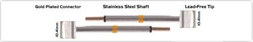"""0.41/"""" Blade Tip 10.41mm NEW Thermaltronics M70TZ100 Tweezers Cartridge Pair"""