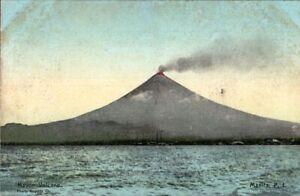 Mount-Mayon-Volcano-Philippine-Islands-Early-Postcard-Unused-pb10