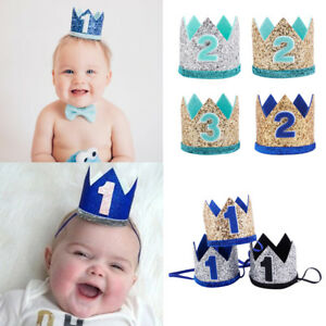 Image is loading Kids-Baby-Birthday-Party-Headdress-Princess-Prince-Crown- 3fbb90a7b35