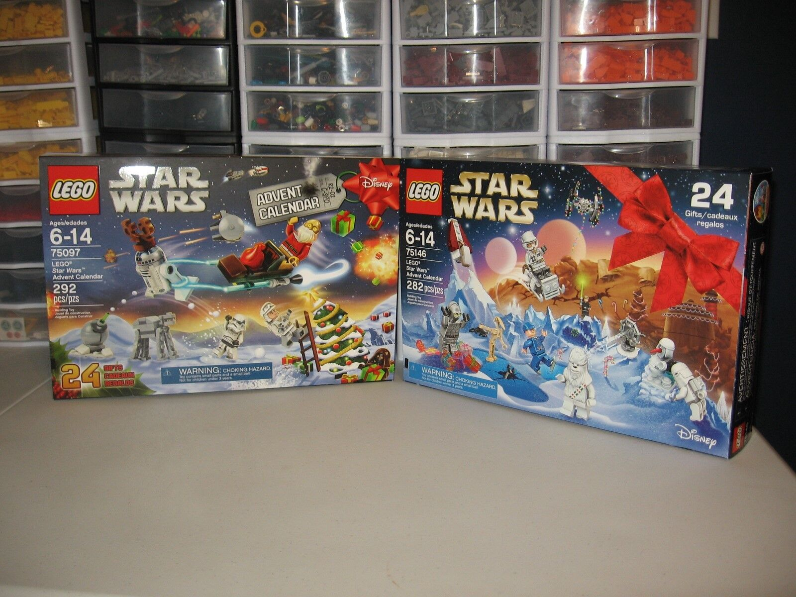 LEGO STAR WARS  ADVENT CALENDAR       2015 & 2016    NIB