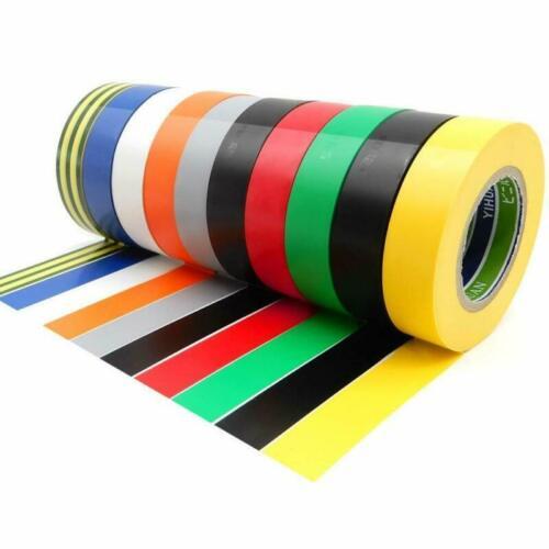 Ytbubor 10 Pack électrique ruban 0.67 in 20 m isolation bande Couleurs mélangées Adhes environ 1.70 cm