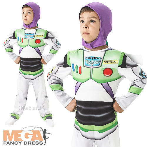 NEW Boys Disney Toy Story Buzz Lightyear Fancy Dress Up Costume Age 2-8 Years