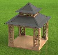 Pagoda Style Gazebo Building Plans - Plans Only - Not Complete Gazebo
