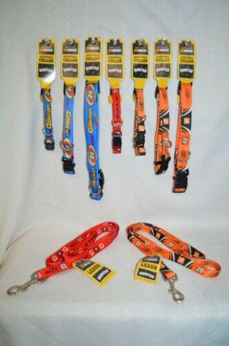 U Pick DOG Pet COLLAR NASCAR Leash GORDON 24 Stewart 20 EARNHARDT 8 SZ Sm MED Lg