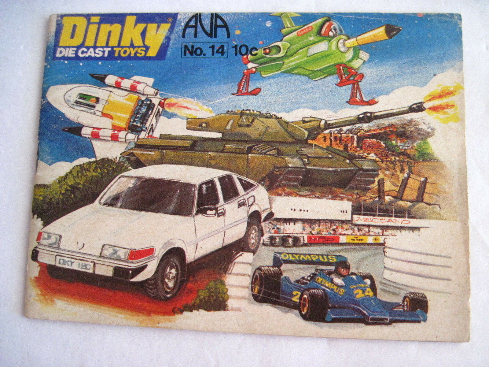Fantastic 1978  Dinky  Die Cast Toys Catalog - w Spaceships, Army Tanks & Cars *