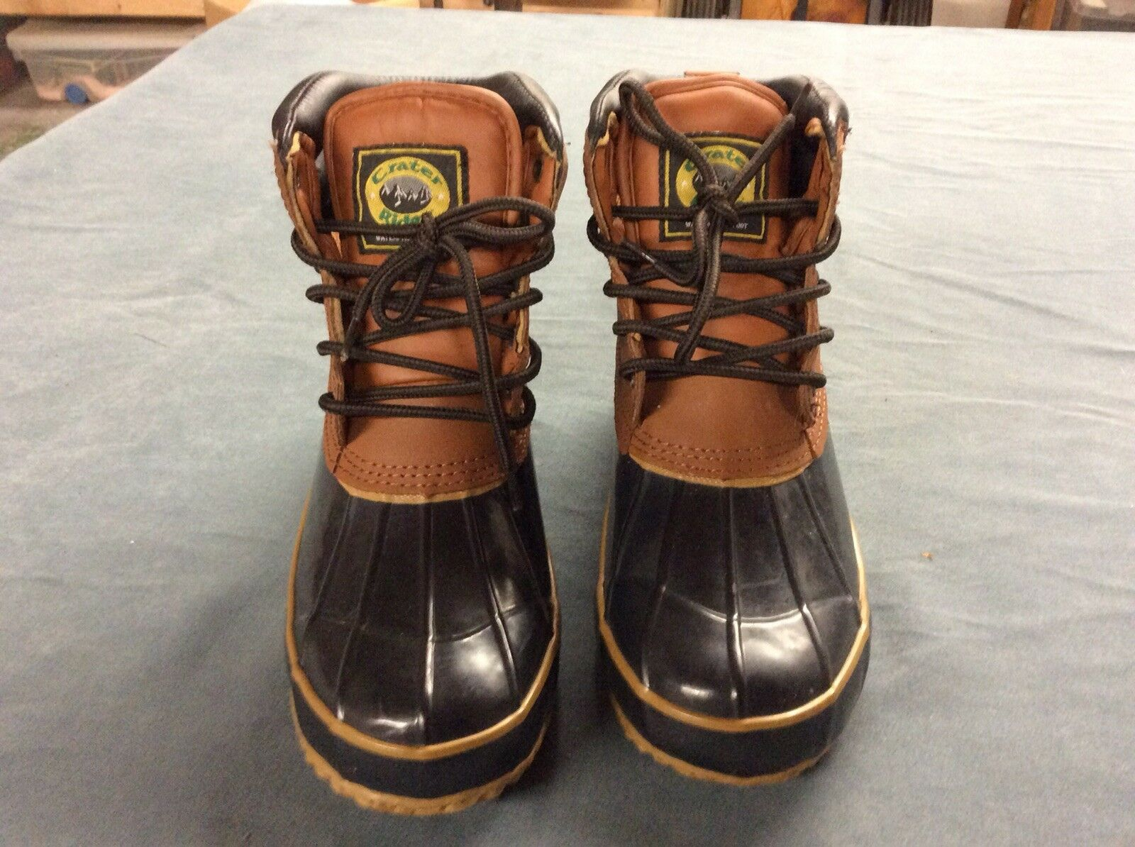 Crater Ridge Duck Boots, Pike 2, Leather Upper, Steel Shank, Sz 7M