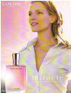 PUBLICITE ADVERTISING 105  2002   LANCOME  parfum femme MIRACLE