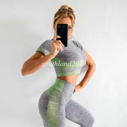 Striped Women Sports Yoga Activewear Tunic Fitness Gym Workout Slimming Coat