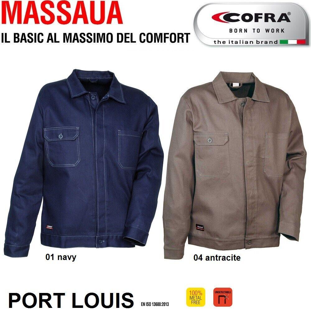 Immagine 01 - Giacca da lavoro COFRA modello PORT LOUIS 100% cotone 270 g/m² industria logist