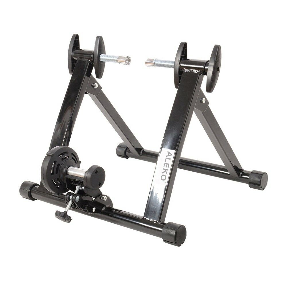 ALEKO Portable Indoor Magnetic Bicycle Exercise Stand with Reduction Wheel