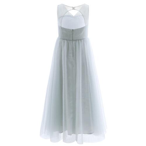 Elegante Vestido de Ceremonia Flor Fiesta de Largo de Boda Princesa para Niñas