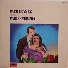 "Vinyle 33T Paco Ibanez / Cuarteto Cedron ""Chante P. Neruda / R. Gonzalez Tunon"""