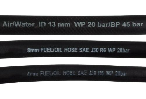 fuel line hose diesel,petrol,oil 1m lengths ,all sizes,20 bar,QUALITY ASSURED!