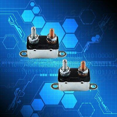 50A 6Pcs Circuit Breaker 12v Auto Reset Dual Car Battery Boat Caravan Fuse