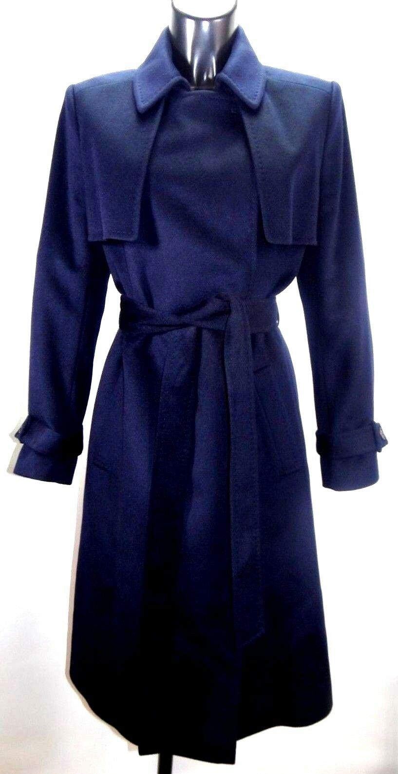 JAEGER Navy bluee Wool Trench Coat sz 12 BNWT